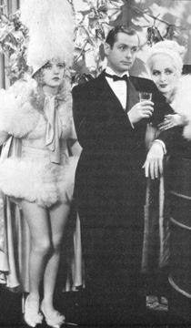 With Robert Montgomery and Billie Dove.